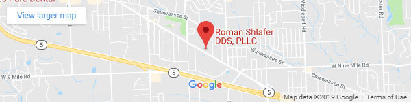 Google map location for Roman Shlafer DDS, PLLC