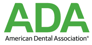 ADA American Dental Association logo in green and black