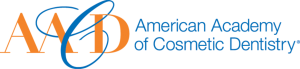 Orange and blue American Academy of Cosmetic Dentistry logo