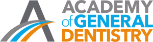 Gray, blue, and orange Academy of General Dentistry logo
